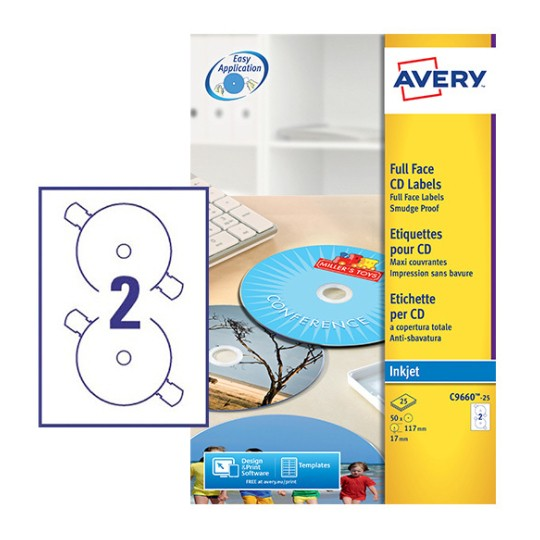 cd labels c9660 25 avery