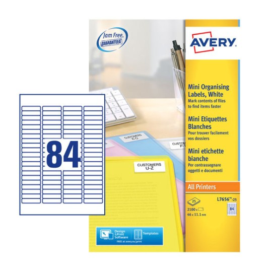 avery templates and software - mini multipurpose labels l7656 25 avery