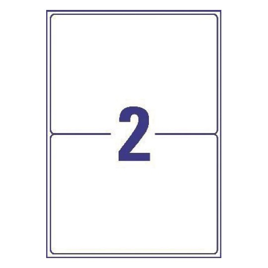2 labels per sheet