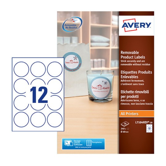 Round Product Labels L7104REV-20