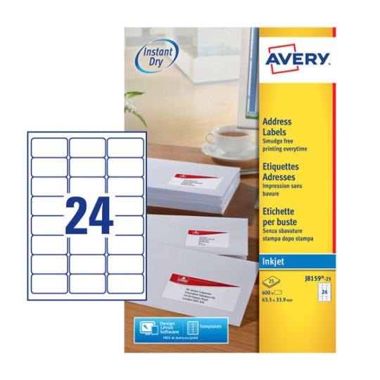 Address Labels J8159 25 Avery