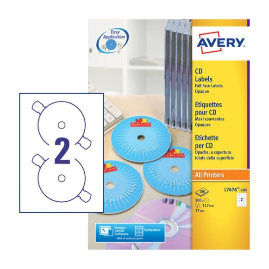 Cd labels l7676 100 avery for Free avery cd label templates