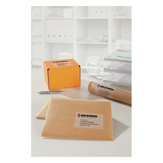 Labels 4 Parcels Packages Clear laser assorted parcels portrait Appl2