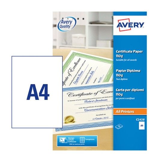 Certificate paper c2428 avery software templates overview yadclub Gallery