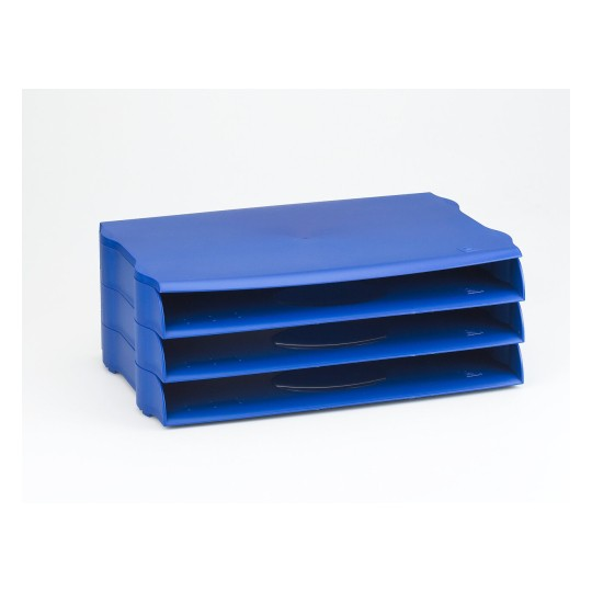 Wide Entry Letter Tray - DTR Eco DR800BLUE