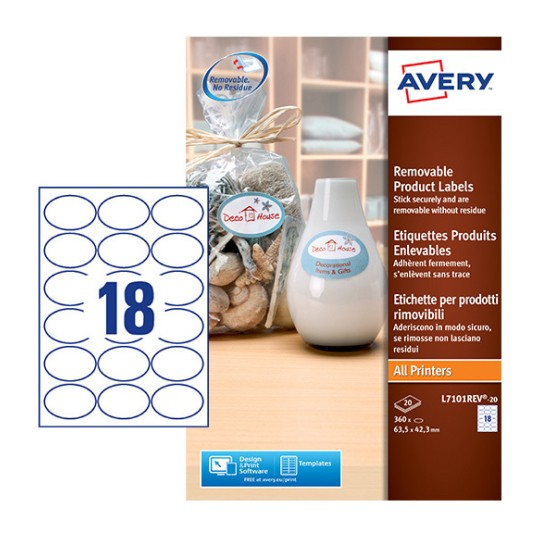 Oval Product Labels L7101REV-20