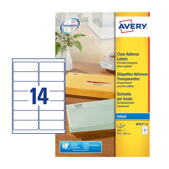 Address Labels J8563 25 Avery