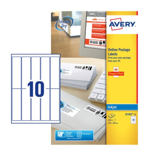 Postage Labels J5103 25 Avery