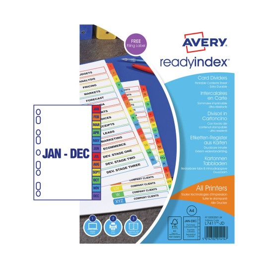 Ready Index™ Dividers 02002501