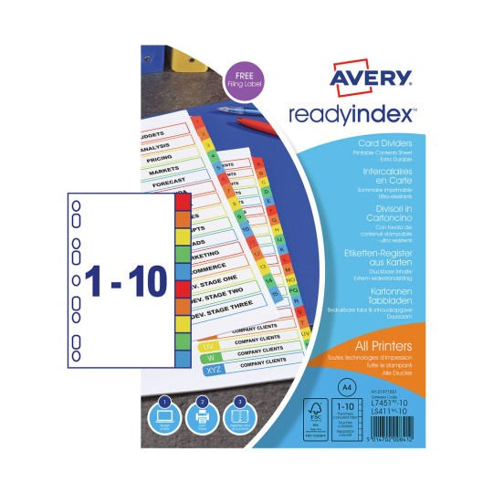 Ready Index™ Dividers 01971501