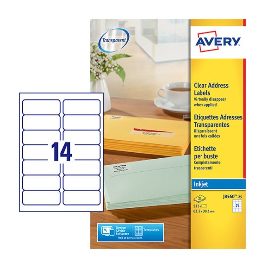 Address Labels : J8560-10 : Avery