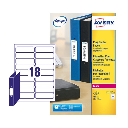 Filing Labels L7172-25 Content: 450 Labels / 25 Sheet