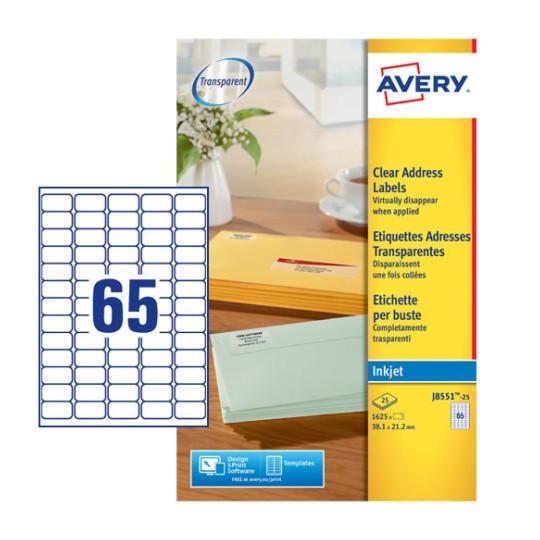 Address Labels J8551 25 Avery